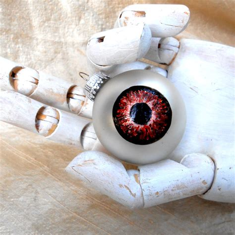 eyeball christmas ornament ball spooky eye ball by