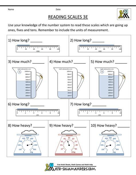 Liquid Measurement Worksheets by 3rd Grade Measurement Worksheets