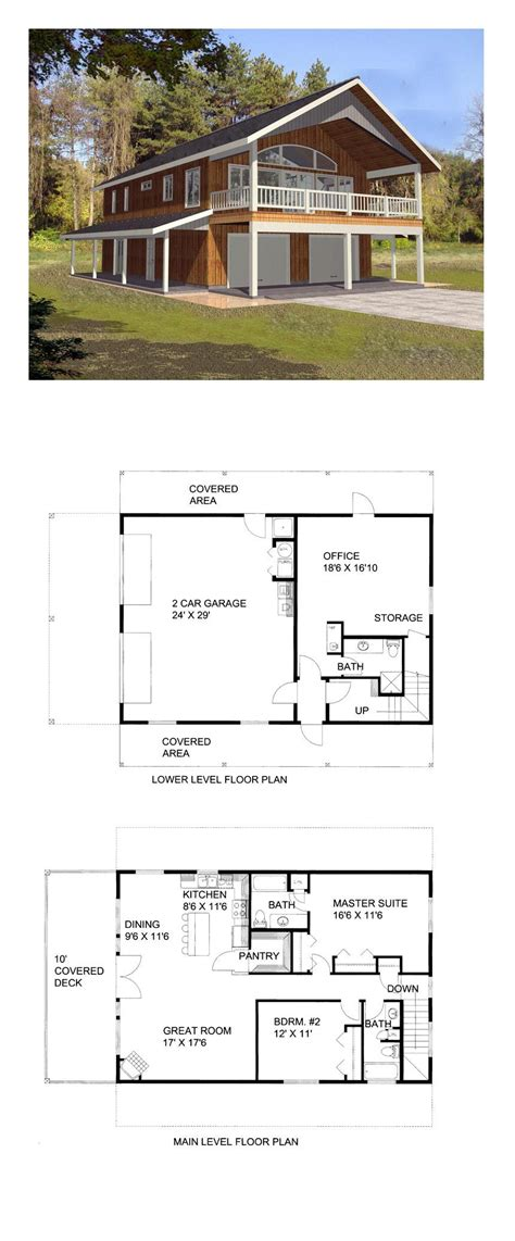 garage plans with apartment one level stunning garage plan apartment and for bedroom style one