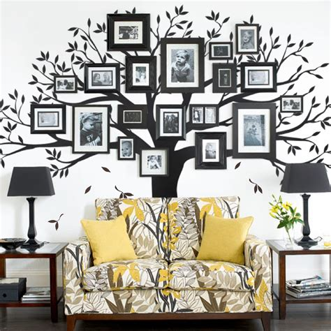 family decorations family tree wall decal tree wall decal for picture frames