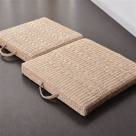 Futon Mats by 40cm 50cm Japanese Style Seat Cushion Square Straw Futon