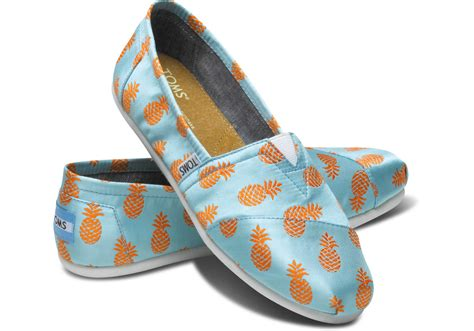 are toms shoes pineapple s classics from toms shoes socks
