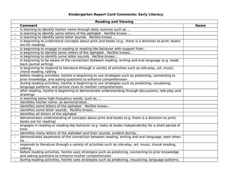 sle progress report for elementary students sle comments for students report card 28 images