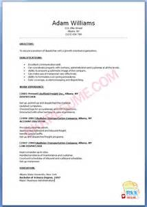Resume For Dispatcher by Cover Letter For Dispatcher Position Cover Letter Templates