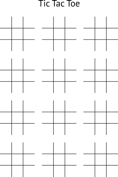 Printable Tic Tac Toe Board