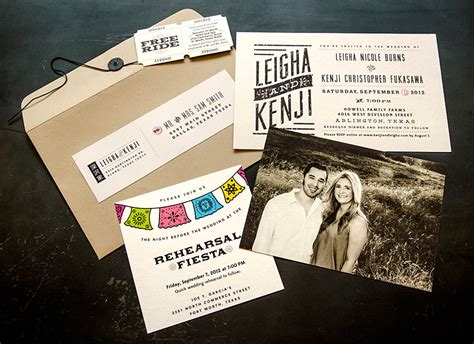 leigha kenji s rustic modern wedding invitations