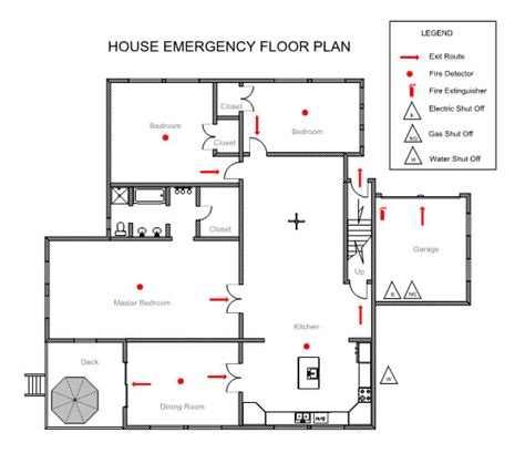 emergency exit floor plan template ezblueprint com