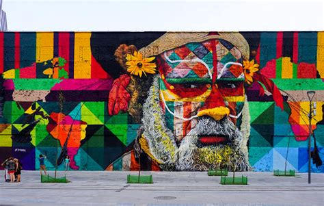 the wall mural eduardo kobra paints 3 000 square meter mural for the