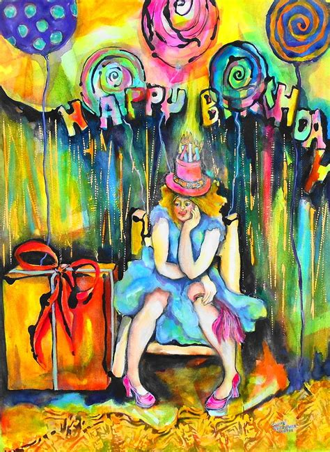 Birthday Cards For Artists Happy Birthday Painting By Claire Sallenger Martin