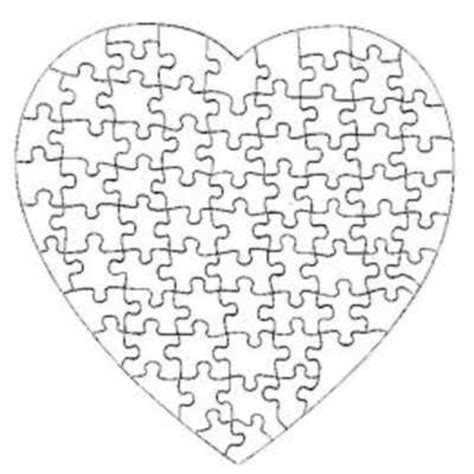 printable heart puzzle template heart puzzle template printable pictures to pin on