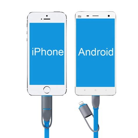 Awei Kable Charger 2 In 1 Micro Usb Lightning Cl 70 2 in 1 micro usb cable 1m charging data sync usb charger flat noodle cable for iphone