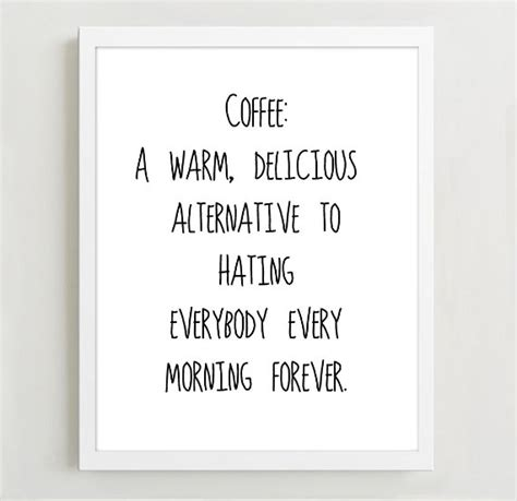 Girly Wall Stickers typographic print quote art print wall decor coffee