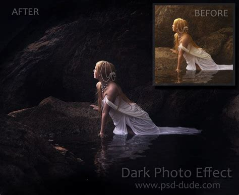 tutorial photoshop professional effect photoshop tutorial dark photo effect via psddude at