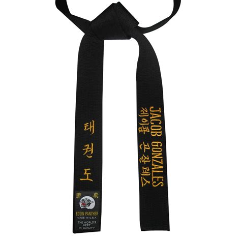taekwondo pattern black belt embroidered black belts big teenage dicks