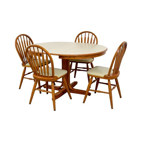 dining table set with leaf 90 white wood dining set with extendable leaf