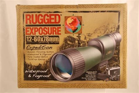 Rugged Exposure by Rugged Exposure Barska 12 60x78mm Spotting Scope