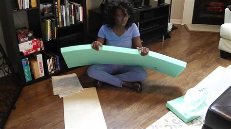 make a cushion for a bench how to make a bench cushion youtube