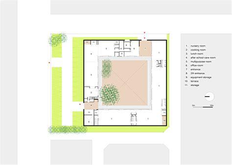 layout plan of nursery school fukae yasuyuki forms aikominori nursery school around