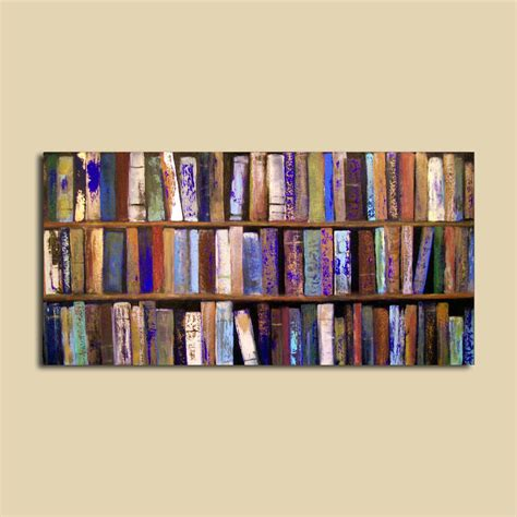 modern picture books abstract painting library books 24 x 48 by
