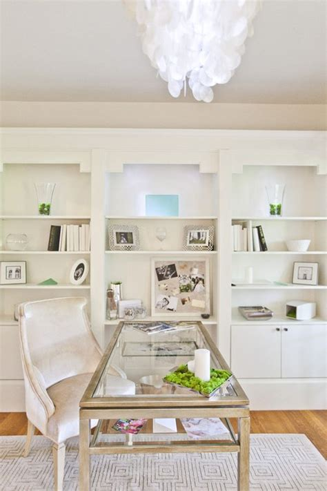 White Home Office | decorating a bright white office ideas inspiration