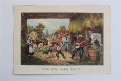 the barn floor currier and ives currier ives print the barn floor published in