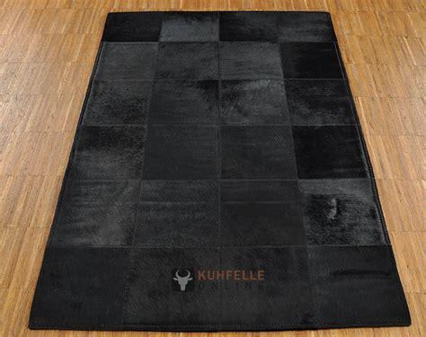 teppich 120 x 80 exklusiver kuhfell teppich schwarz 80 x 120 cm bei
