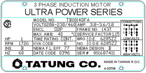 3 phase induction motor nameplate details what does motor nameplate information by aresco inc