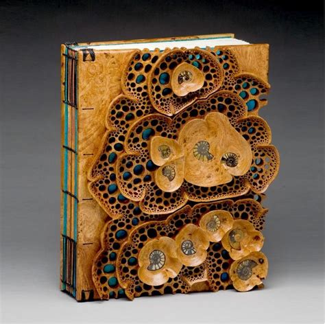 Fossil Titipan Mbak Heny quot tide pool book quot 13 quot h x 10 quot w x 2 quot d afzelia burl with