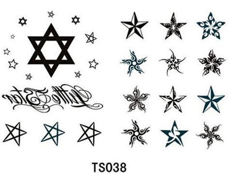 popular star tattoo stencils buy cheap star tattoo