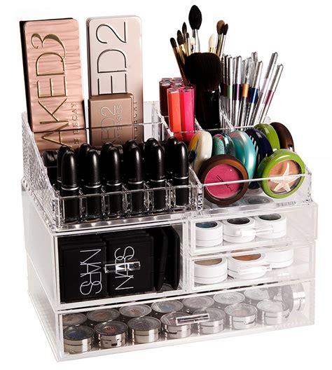 Acrylic Makeup Organizer the container store luxe acrylic modular system makeup