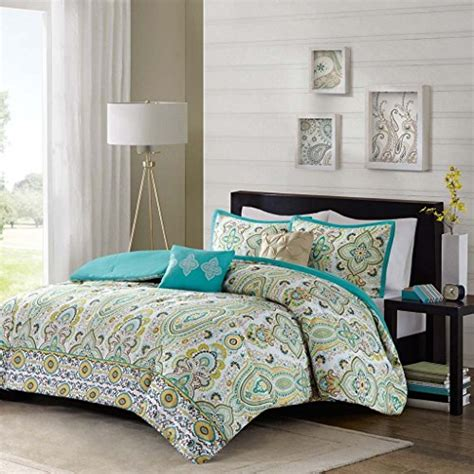 yellow paisley comforter modern teen girls floral paisley aqua yellow comforter