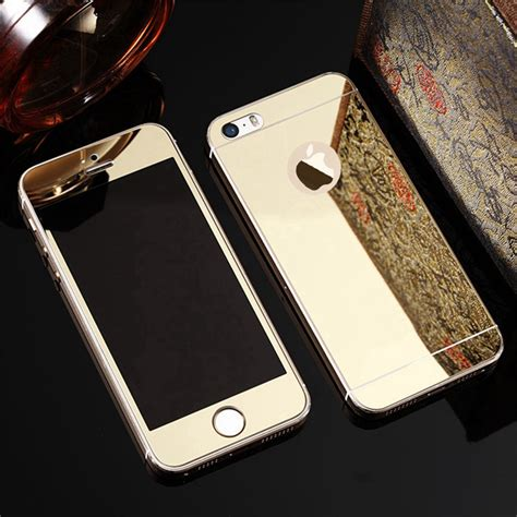 Tempered Glass And Phone Mirror For Iphone 6 Plus front and back 2pcs premium tempered glass for iphone 5