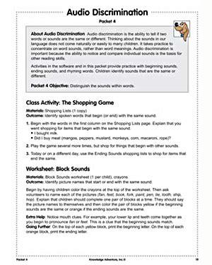 sound discrimination worksheets audio discrimination free reading lesson plans on letter sounds jumpstart