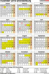 Kalender 2018 Feiertage Und Ferien Brandenburg Kalender 2018 Brandenburg Ferien Feiertage Excel Vorlagen