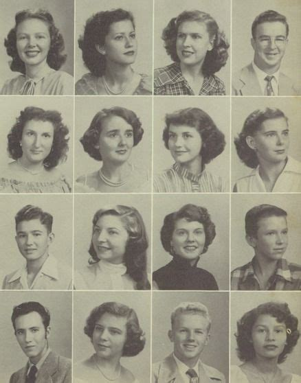 Hairstyles For Yearbook | 1951 high school hairstyles from the yearbook at w b ray