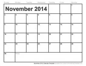 Calendar Template November by November 2014 Calendar Template