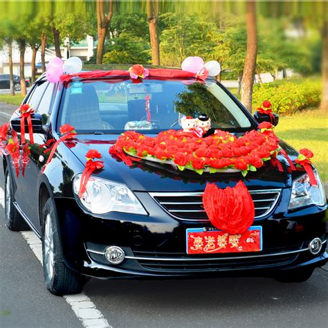 Wedding Car With Flowers by Wedding Car Decoration With Artificial Flowers Images