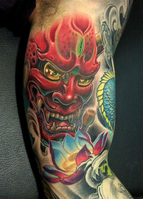 Oriental Tattoo Mask   21 best japanese mask tattoo images on pinterest
