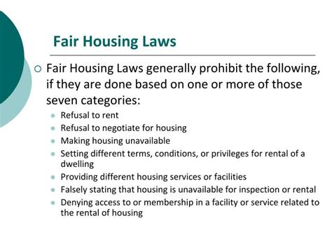 fair housing laws ppt the south carolina residential landlord tenant act
