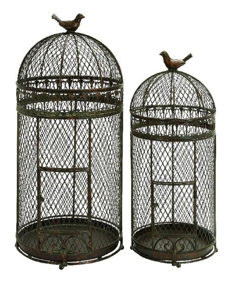 rustic birds cages in bronze garden sculptures ornaments
