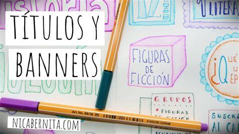 como decorar titulos para cuadernos ideas para decorar cuadernos y trabajos escolares t 237 tulos