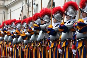 Papal Wedding Blessing Uk by California To Vatican Swiss Guard With The