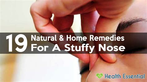 19 and home remedies to get rid of stuffy nose