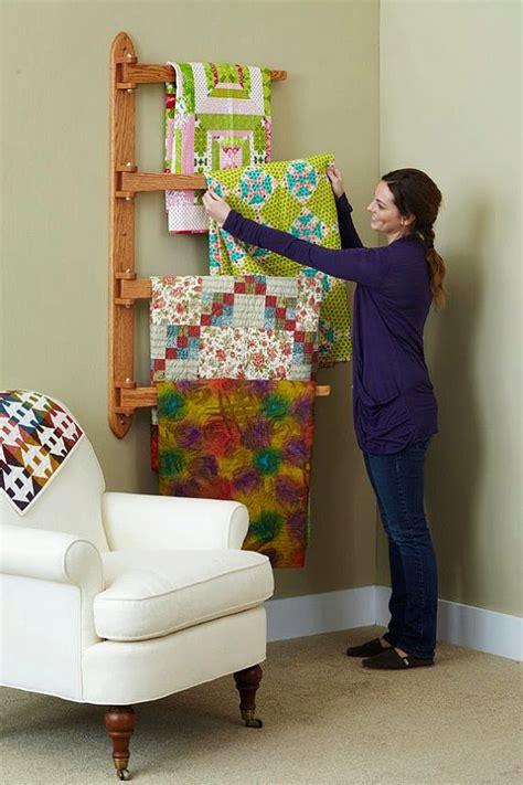 Wall Mounted Quilt Display De Jong House Ikea Quilt Ladder