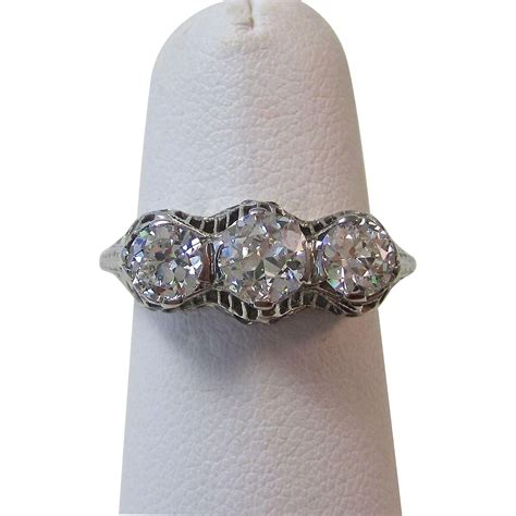 3 deco rings stunning 3 deco vintage engagement ring