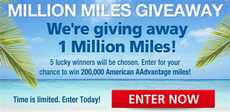 Air Miles Sweepstakes Winners - million miles giveaway sweepstakes 5 winners win 200 000 aadvantage miles points
