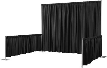 pipe and drape system pipe drape exhibit display booths pipe drape kits