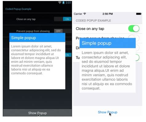 xamarin android custom layout ios xamarin forms popup dialog with custom view stack