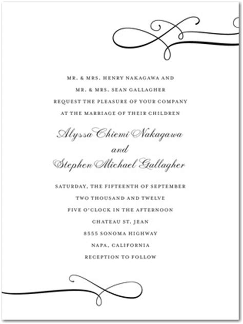 Wedding Invitation Card Lines by Thermography Wedding Invitations Luxe Lines