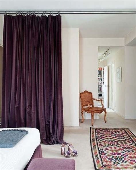 velvet purple curtains luxurious purple velvet curtains as a room divider